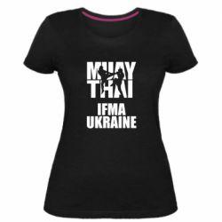 Женская стрейчевая футболка Muay Thai IFMA Ukraine