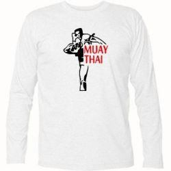 Футболка с длинным рукавом Muay Thai kick - FatLine