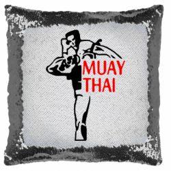 Подушка-хамелеон Muay Thai kick