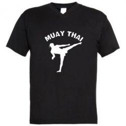 Мужская футболка  с V-образным вырезом Muay Thai - FatLine