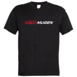 Мужская футболка  с V-образным вырезом Mugen Logo - FatLine