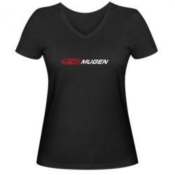 Женская футболка с V-образным вырезом Mugen Logo - FatLine