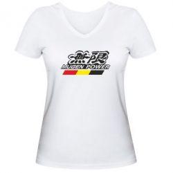Женская футболка с V-образным вырезом Mugen Power - FatLine