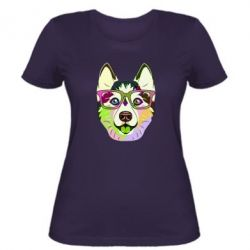 Жіноча футболка Multi-colored dog with glasses