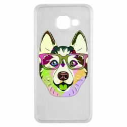 Чохол для Samsung A3 2016 Multi-colored dog with glasses