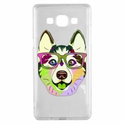 Чохол для Samsung A5 2015 Multi-colored dog with glasses