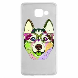 Чохол для Samsung A5 2016 Multi-colored dog with glasses