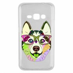 Чохол для Samsung J1 2016 Multi-colored dog with glasses