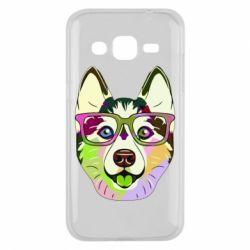 Чохол для Samsung J2 2015 Multi-colored dog with glasses