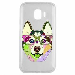 Чохол для Samsung J2 2018 Multi-colored dog with glasses