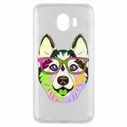 Чохол для Samsung J4 Multi-colored dog with glasses