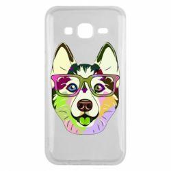 Чохол для Samsung J5 2015 Multi-colored dog with glasses