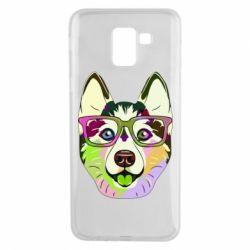 Чохол для Samsung J6 Multi-colored dog with glasses