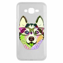 Чохол для Samsung J7 2015 Multi-colored dog with glasses