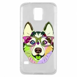 Чохол для Samsung S5 Multi-colored dog with glasses