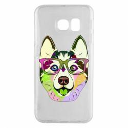 Чохол для Samsung S6 EDGE Multi-colored dog with glasses