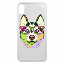 Чохол для iPhone Xs Max Multi-colored dog with glasses