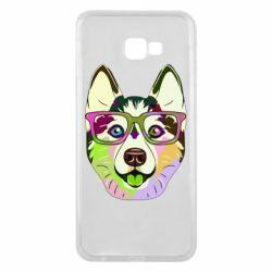 Чохол для Samsung J4 Plus 2018 Multi-colored dog with glasses