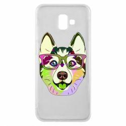Чохол для Samsung J6 Plus 2018 Multi-colored dog with glasses