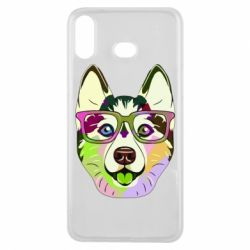 Чохол для Samsung A6s Multi-colored dog with glasses