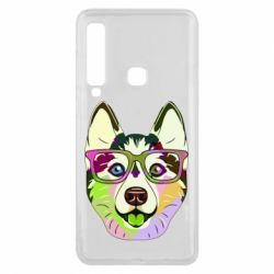 Чохол для Samsung A9 2018 Multi-colored dog with glasses