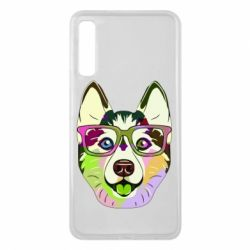 Чохол для Samsung A7 2018 Multi-colored dog with glasses