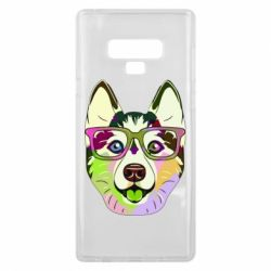 Чохол для Samsung Note 9 Multi-colored dog with glasses