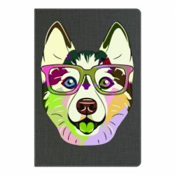 Блокнот А5 Multi-colored dog with glasses