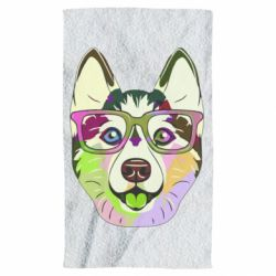 Рушник Multi-colored dog with glasses