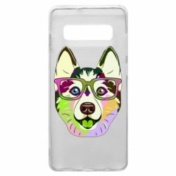 Чохол для Samsung S10+ Multi-colored dog with glasses