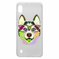 Чохол для Samsung A10 Multi-colored dog with glasses