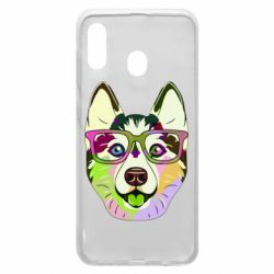 Чохол для Samsung A20 Multi-colored dog with glasses