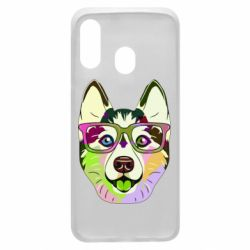Чохол для Samsung A40 Multi-colored dog with glasses