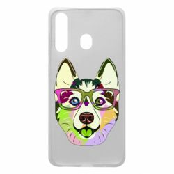 Чохол для Samsung A60 Multi-colored dog with glasses