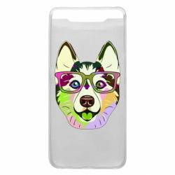 Чохол для Samsung A80 Multi-colored dog with glasses