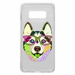 Чохол для Samsung S10e Multi-colored dog with glasses