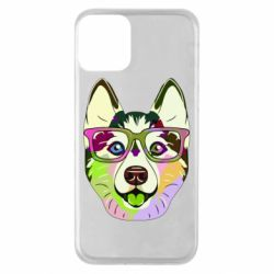 Чохол для iPhone 11 Multi-colored dog with glasses