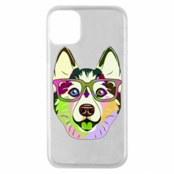Чохол для iPhone 11 Pro Multi-colored dog with glasses