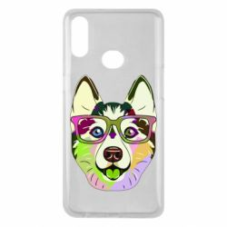 Чохол для Samsung A10s Multi-colored dog with glasses