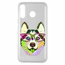 Чохол для Samsung M30 Multi-colored dog with glasses