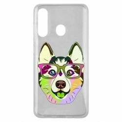 Чохол для Samsung M40 Multi-colored dog with glasses