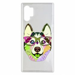 Чохол для Samsung Note 10 Plus Multi-colored dog with glasses