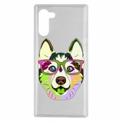 Чохол для Samsung Note 10 Multi-colored dog with glasses