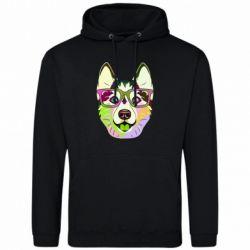 Чоловіча толстовка Multi-colored dog with glasses