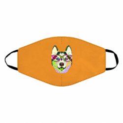 Маска для обличчя Multi-colored dog with glasses