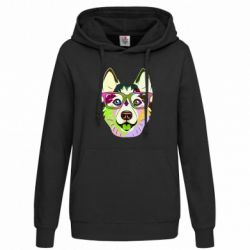 Толстовка жіноча Multi-colored dog with glasses