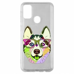 Чохол для Samsung M30s Multi-colored dog with glasses