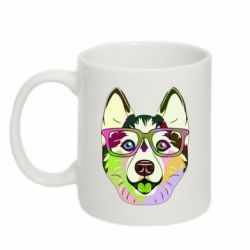 Кружка 320ml Multi-colored dog with glasses