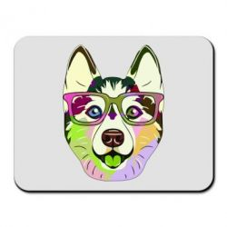 Килимок для миші Multi-colored dog with glasses