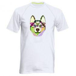 Чоловіча спортивна футболка Multi-colored dog with glasses
